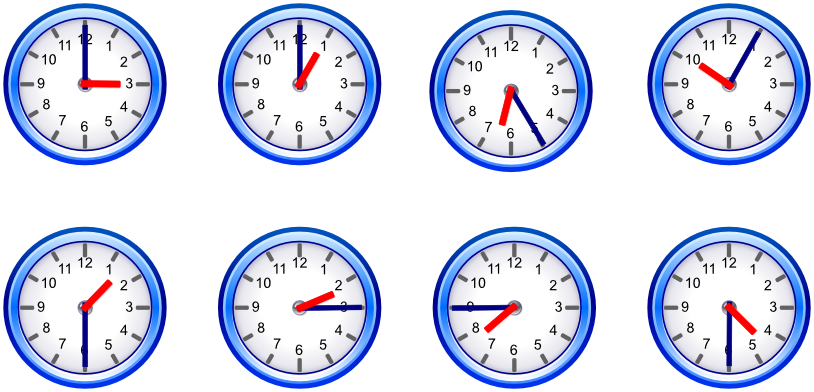 Telling Time | Telling Time: English: Vocabulary - LanguageGuide.